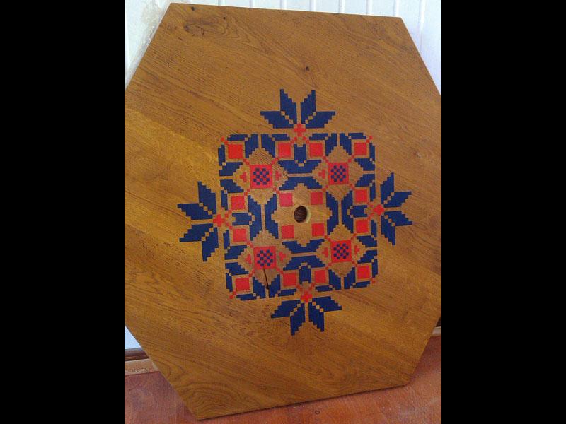 Роспись мебели в етно стиле