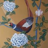 Картина Акриловая живопись Птицы Цветы Живопись для интерьера