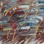 Картина Зимнее озеро Энкаустика Киев Landscape. Original Encaustic Painting