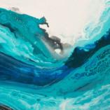 Картина Движение в синем Абстракция Акриловая живопись Киев. Abstract Паинтинг Acrylic painting on Canvas