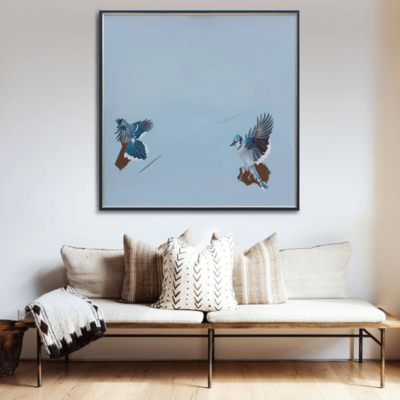Картина ПолетII Холст акрил Large Acrylic painting on canvas Contemporary Art Birds
