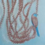 Картина Весна Птицы Акриловая живопись Акрил