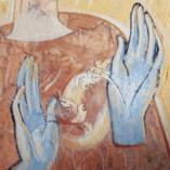 Картина Восход Энкаустика Желтая живопись. Hot Beeswax Portrait painting Encaustic Painting