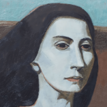 Original Encaustic Painting Portrait of a Young Girl. Картина Портрет Энкаустика Киев